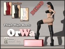 OrWa Thigh High Boots DEMO