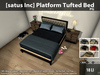 [satus Inc] Platform Tufted Bed [PG] ~ 150 Animations - 100 Poses