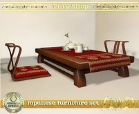 Japanese furniture set with a tea set, 100%mesh (full perm).