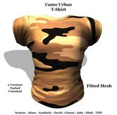 [F] Camo Urban - Fitmesh - All Sizes