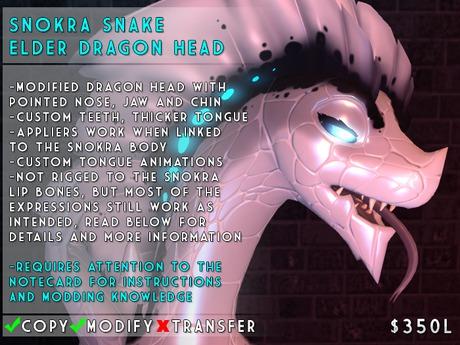 Visual Magick // Snokra Snake Elder Dragon Head