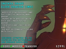 Visual Magick // Snokra Snake Elder Dragon Clawed Limbs