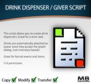 Drink Dispenser Script Kit