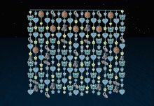 baby bead curtains blue