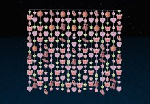 baby bead curtains pink
