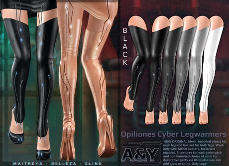 A&Y Opiliones Cyber Legwarmers - Black