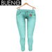 Bueno - Jeans - Teal - Slink Hourglass, Physique, Fit Mesh