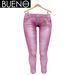 Bueno - Jeans - Pink - Slink Hourglass, Physique, Fit Mesh