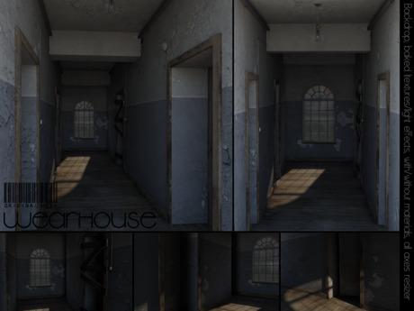 WeArH0uSE [creepy corridor] PhotoBackdrop