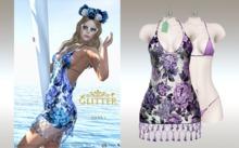 GLITTER - HAWAI Mesh Dress & Bikini Appliers Lavender w/glasses 50% OFF SPECIAL PROMO