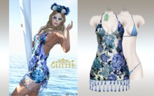GLITTER - HAWAI Mesh Dress & Bikini Appliers Blue w/sunglasses 50% OFF SPECIAL PROMO