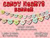 Custom Love: Candy Hearts Banner