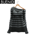 BUENO-Cozy Sweater -Gray Bold Stripe