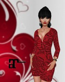 XK Maitreya Lady In Red Deep V Minidress