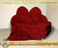 "Gift! Sofa""Heart"",100%mesh (full perm)."