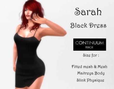 Continuum Sarah Black Dress - Gift