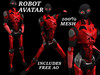 [BOOGIE] Robot Avatar- Red & Black- Robot Avatar- Free AO Included