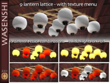 9 paper lantern lattice grid - with texture menu