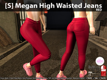[S] Megan High Waisted Jeans Red