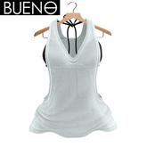 BUENO - Jun Tank & Bikini Top - White - Belleza, Freya, Isis, Slink, Hourglass, Fit Mesh