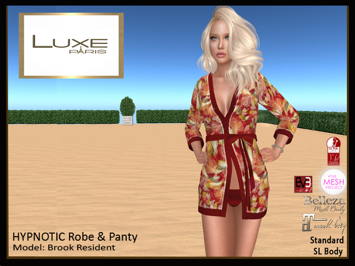 LUXE Paris HYPNOTIC Robe and Panty