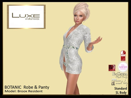 LUXE Paris BOTANIC Robe and Panty
