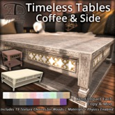 [DDD] Timeless Table Set - 19 texture choices + materials + phys