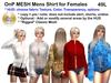 OnP Mesh Mens Shirt For Females