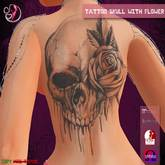 TATTOO - on back - Skull with Flower