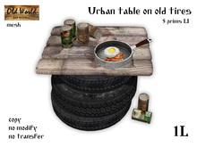 OW Urban table on old tires - Old World - Hobo / Urban Furniture