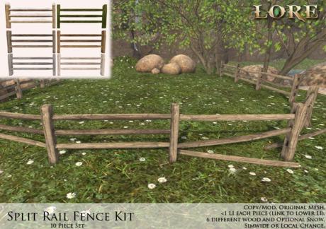 {LORE} Split Rail Fence Kit