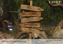 {LORE} Spooky Directional Sign