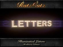 .:RatzCatz:. illuminated Letters 'Arial' - builder's edition boxed