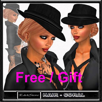 "GIFT EdelStore  woman hair "" Jazz "" incl. hat PROMO Free freebie kostenlos present Hut party Haare Frauenhaare cheveux"