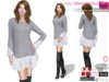 %50SUMMERSALE Full Perm Sweater with Lace Frills for Ocacin,Slink,Maitreya,Belleza,Tonic,TMP,Ebody, Fitmesh 5 Sizes