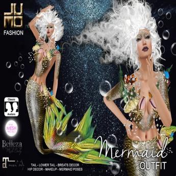 .:JUMO:. Mermaid Outfit - TMP Maitreya Belleza - ADD ME