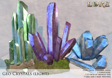 {LORE} Geo Crystals (light)