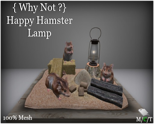 { Why Not ?} Happy Hamster Lamp-Boxed