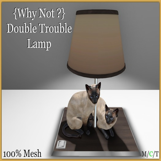 {Why Not ?} Double Trouble Lamp - Boxed