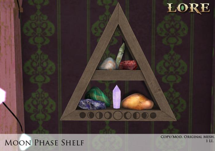 {LORE} Moon Phase Shelf