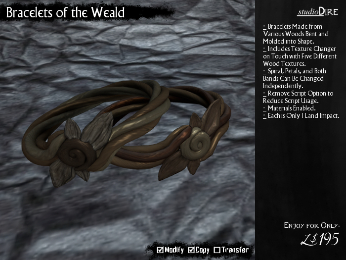 /studioDire/ Bracelets of the Weald