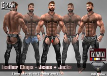 GMan PA - Leather Chaps  for Aesthetic
