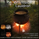[DDD] Whimsical Cauldron - On/Off & 4 Metal Choices + Animated Stirring Cauldron