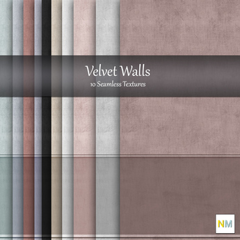 Velvet Walls 10 Fabric Wallpaper Textures NM