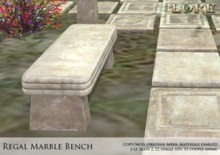 {LORE} Regal Marble Bench