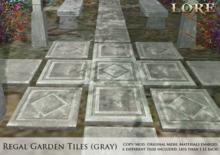 {LORE} Regal Garden Tiles (gray)