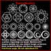 Spiro Sculpties - spiral circle swirl shapes for jewelry, necklace, windows, etc.