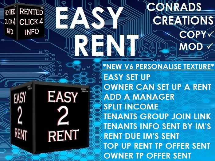 EASY RENT V6 WITH TP'S/FAST PAY/SPLIT INCOME