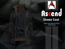 //Ascend// Shawn Long Coat - Plain Black