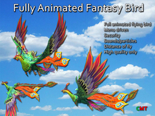 Fully Animated Flying Fantasy Bird